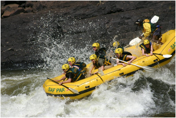 Water Rafting, Zambezi River (creative commons)
