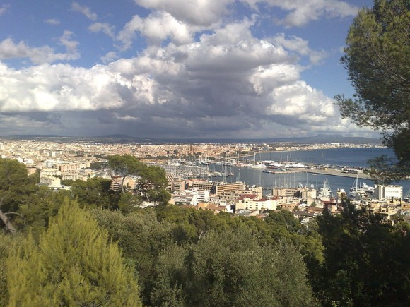 View of Palma from Castillo de Bellver by Philipcolev (creative commons)