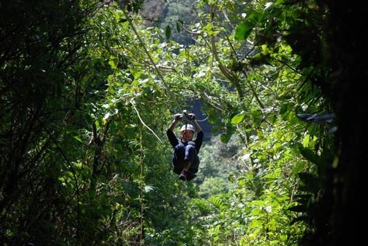 Zip lining/Photo credit: Skytrek Monteverde