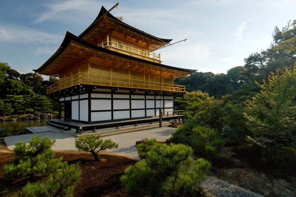 Kinkaku-ji or Golden Pavillion in Kyoto, Japan. Photo by syvwlch, Creative Commons