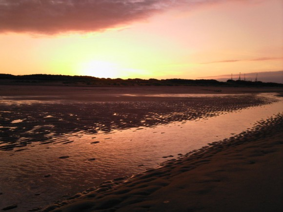 Skegness Beach Sunset (Creative Commons)