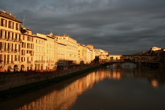 Reversea View of the Florence Glows at Sunset (Creative Commons)