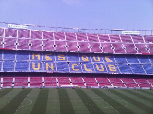 Camp Nou Tribune (Creative Commons)